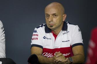 Simone Resta, Sauber F1 Team Designer in the Press Conference