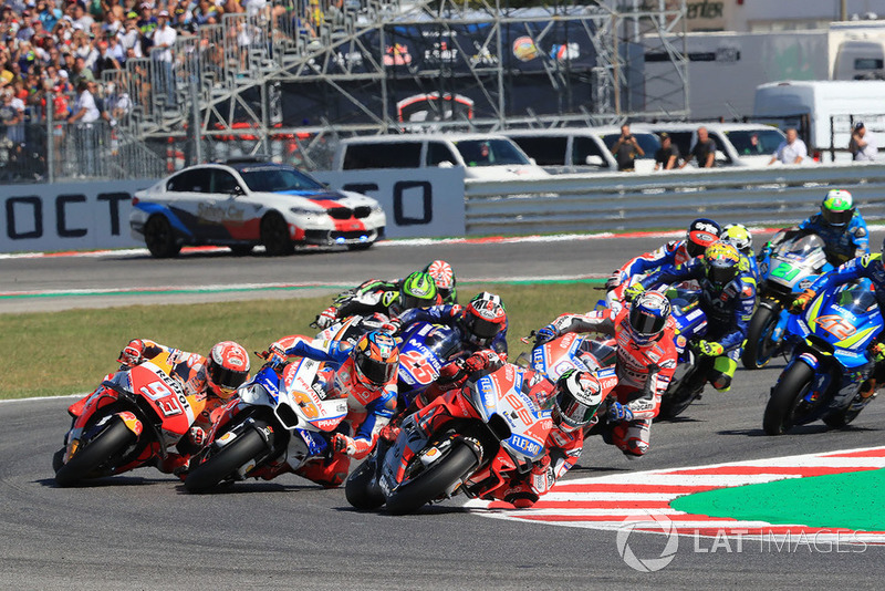 Jorge Lorenzo, Ducati Team leads at the start