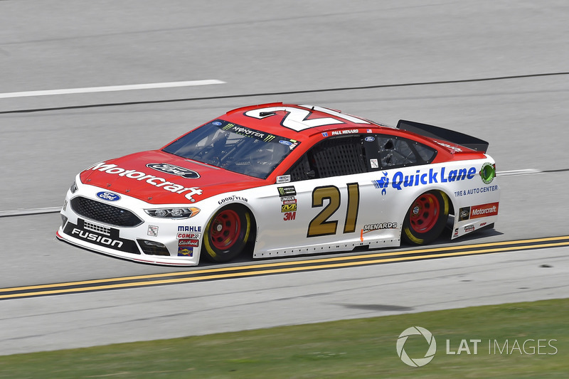 13. Paul Menard, Wood Brothers Racing, Ford Fusion Motorcraft / Quick Lane Tire & Auto Center