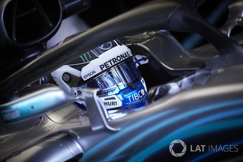 Valtteri Bottas, Mercedes AMG F1 W09, no carro