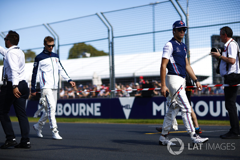 Lance Stroll, Williams Racing, and Sergey Sirotkin, Williams Racing