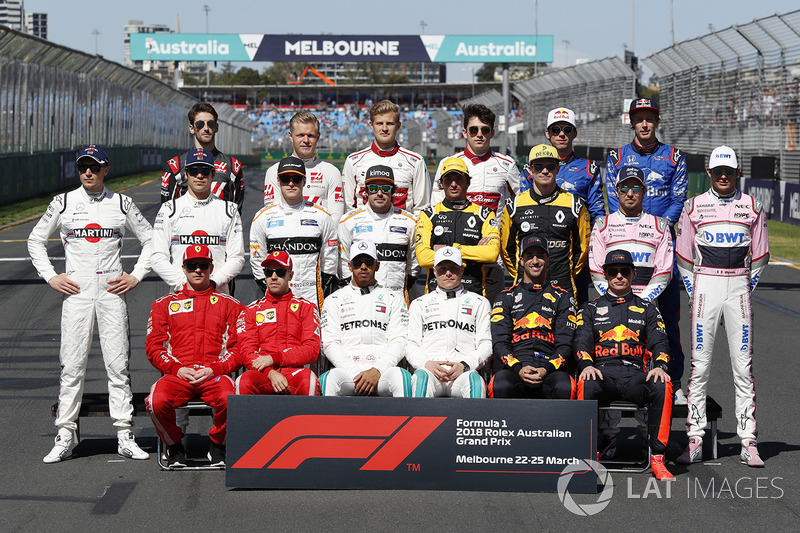 Foto grup pembalap F1 2018