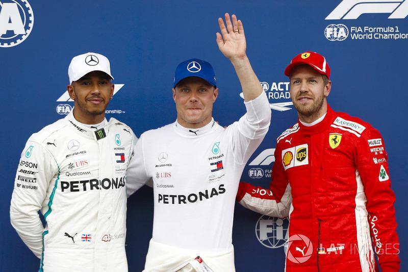 Valtteri Bottas, Mercedes AMG F1, Lewis Hamilton, Mercedes AMG F1, Sebastian Vettel, Ferrari