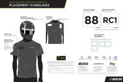 NASCAR tulum yaması yerleştirme kuralları