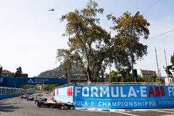 Jean-Eric Vergne, Techeetah, Nelson Piquet Jr., Jaguar Racing, Andre Lotterer, Techeetah, at the start of the race