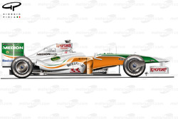 Force India VJM02 2009 Istanbul side view