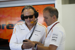 Mansour Ojjeh, co-owner, McLaren, and Jonathan Neale, Managing Director, McLaren