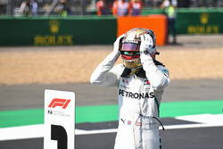 Lewis Hamilton, Mercedes-AMG F1 celebrates pole position in parc ferme