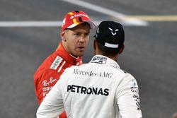 Sebastian Vettel, Ferrari et Lewis Hamilton, Mercedes AMG F1