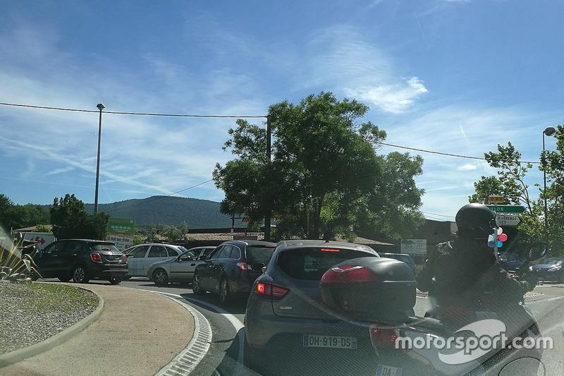 Автомобільні пробки перед Гран Прі Франції Ф1