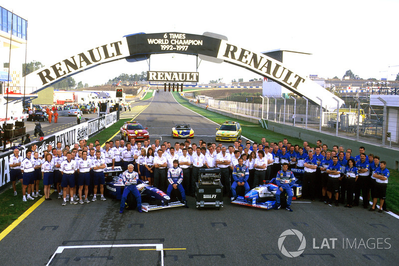 Renault-Teams 1997: Williams und Benetton