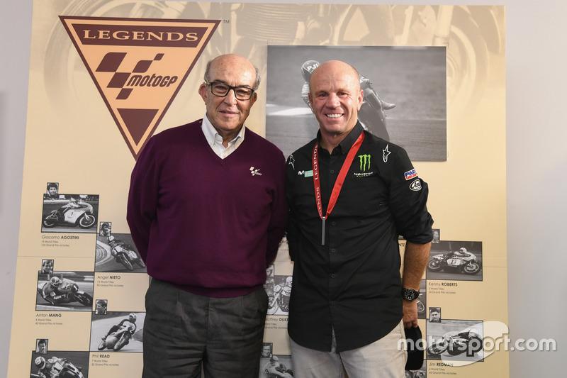 Carmelo Ezpeleta, CEO of Dorna Sports, Randy Mamola