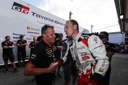 Tercer lugar Jari-Matti Latvala, Toyota Yaris WRC, Toyota Gazoo Racing, Tommi Makinen