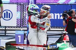 Lucas di Grassi, Audi Sport ABT Schaeffler, Daniel Abt, Audi Sport ABT Schaeffler, celebrate winning the manufacturers championship Steven Tee
