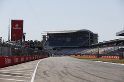 A view of the pit straight