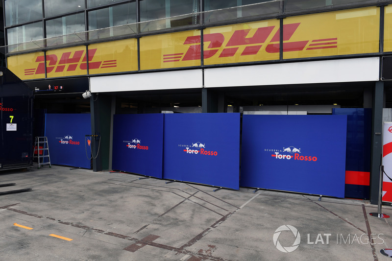 Scuderia Toro Rosso garage screens