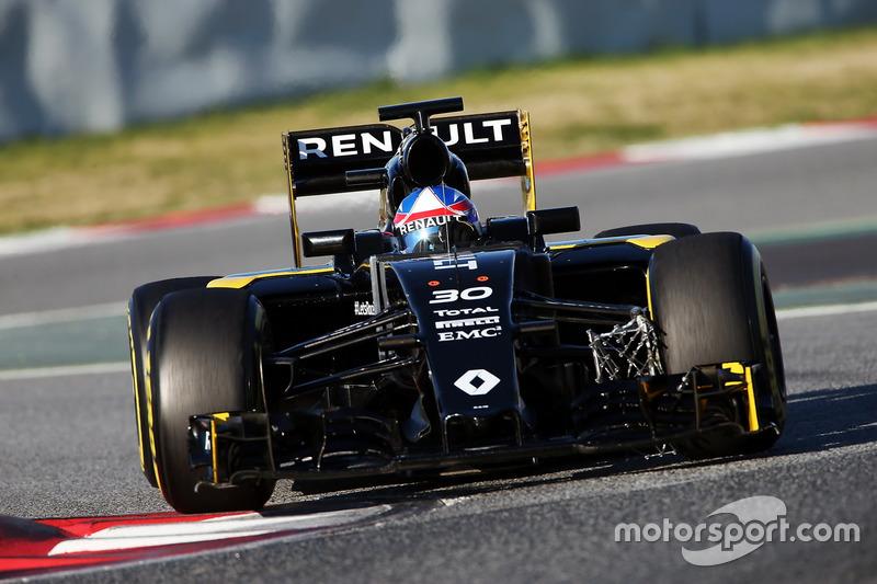 Jolyon Palmer, Renault Sport F1 Team RS16 funcionamiento equipo de sensor