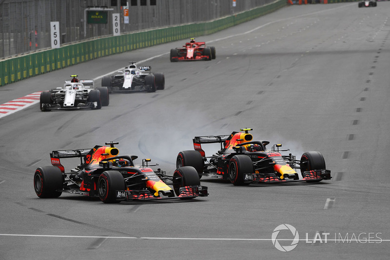 Daniel Ricciardo, Red Bull Racing RB14, Max Verstappen, Red Bull Racing RB14