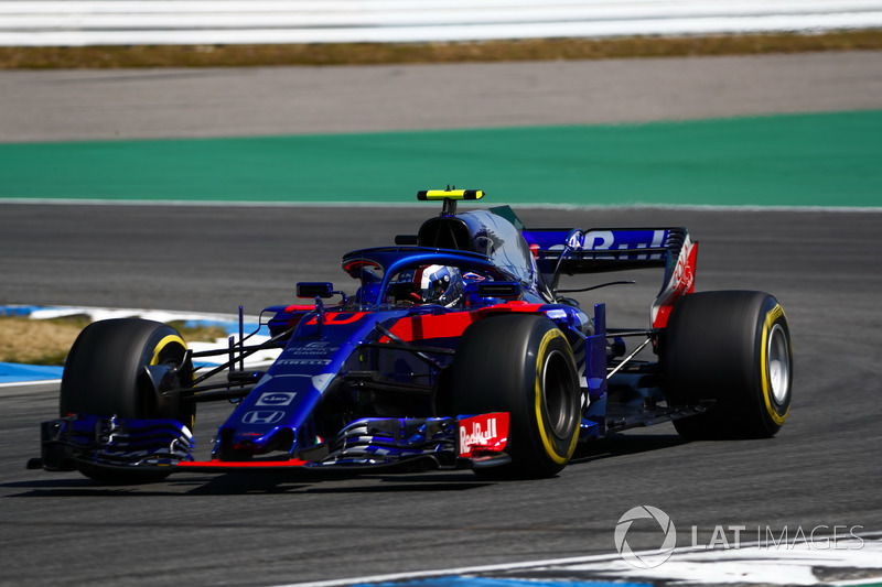 20: Pierre Gasly, Toro Rosso STR13, 1'13.749 (Sancionado a salir último por cambios en el motor)