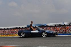 Romain Grosjean, Haas F1, at drivers parade