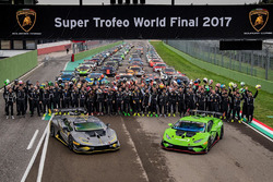 Lamborghini Super Trofeo drivers group shot