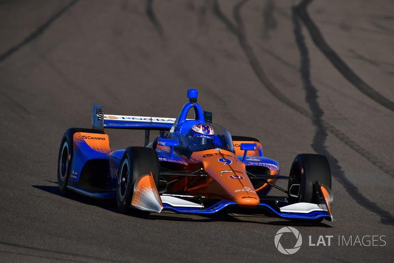 Скотт Діксон, Chip Ganassi Racing Honda, тестує aeroscreen