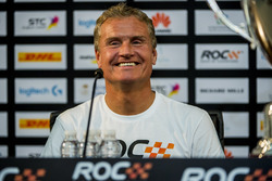 Winner David Coulthard in the press conference