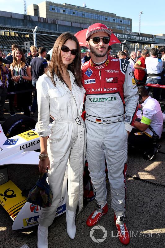 Daniel Abt, Audi Sport ABT Schaeffler, con la modella Emily Ratajkowski