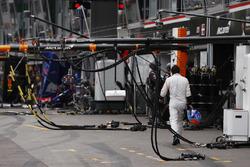 Fernando Alonso, McLaren, walks back to the pits