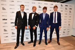 Sergey Sirotkin, Williams, Marcus Ericsson, Sauber, Charles Leclerc, Sauber y George Russell,