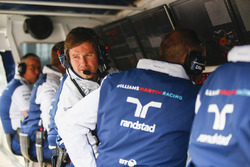 Rob Smedley, Head of Vehicle Performance, Williams, on the pit wall