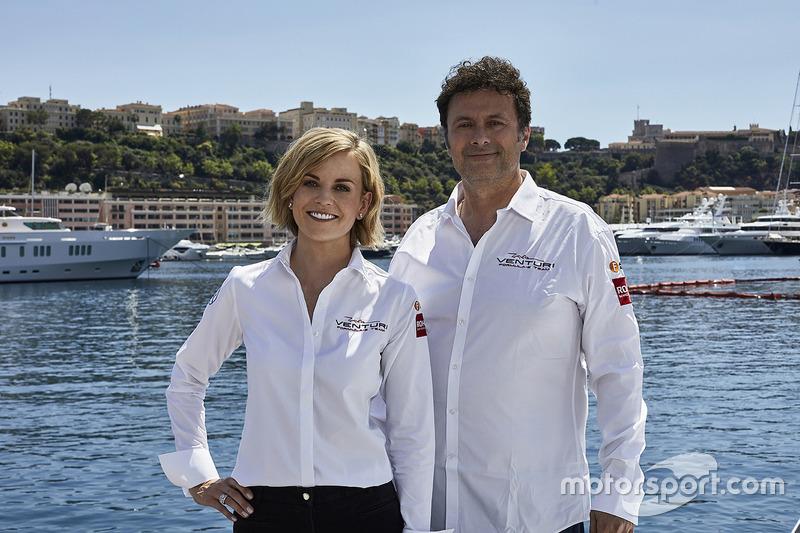 Susie Wolff, Team Principal Venturi Formula E Team, Gildo Pallanca Pastor, propriétaire du Venturi Formula E Team