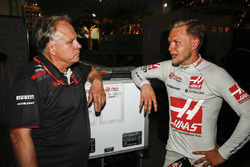 Gene Haas, Team Owner, Haas F1, and Kevin Magnussen, Haas F1 Team