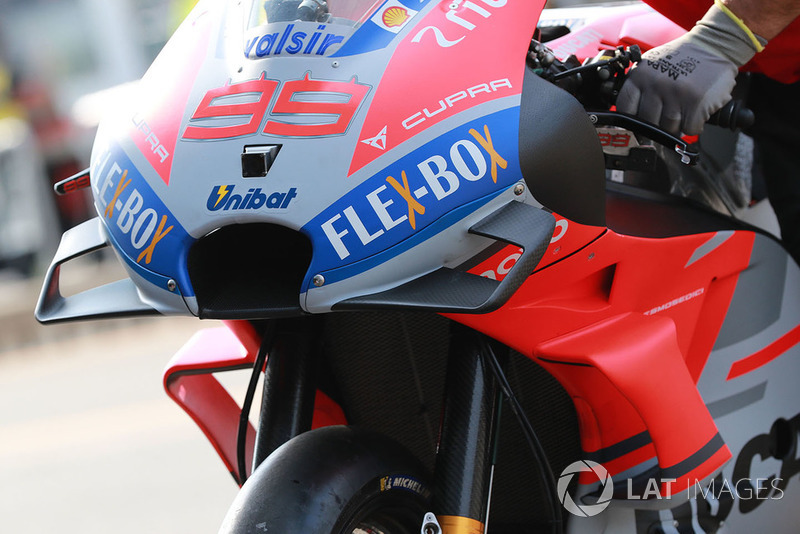 Ducati Team, bike fairing detail