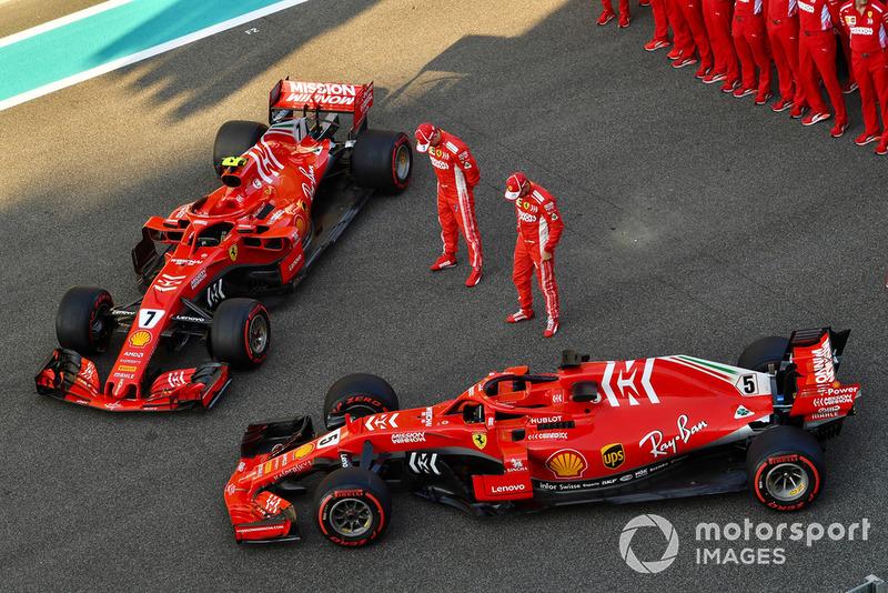 Sebastian Vettel, Ferrari et Kimi Raikkonen, Ferrari