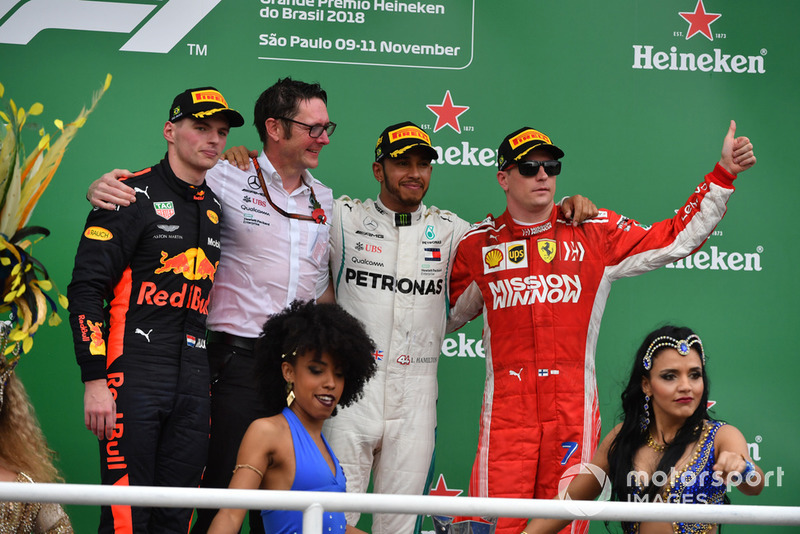 GP de Brasil: 1º Hamilton, 2º Verstappen, 3º Raikkonen