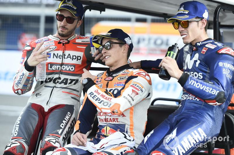 Андреа Довіціозо, Ducati Team, Марк Маркес, Repsol Honda Team, Маверік Віньялес, Yamaha Factory Racing