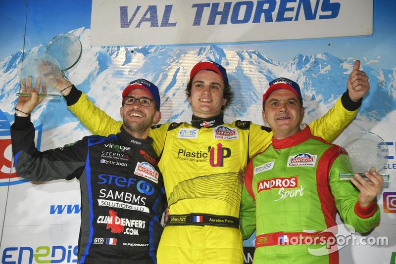 Podio: Olivier Pernaut, Aurélien Panis, Franck Lagorce