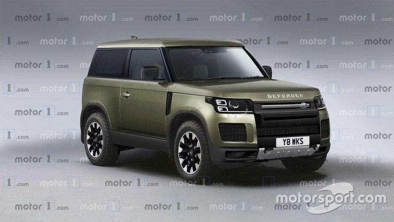 Render Land Rover Defender 2020