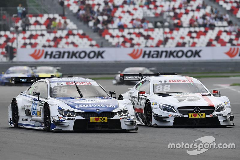 Maxime Martin, BMW Team RBM, BMW M4 DTM; Felix Rosenqvist, Mercedes-AMG Team ART, Mercedes-AMG C 63 DTM
