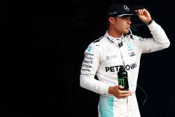 Nico Rosberg, Mercedes AMG F1 en la calificación de parc ferme