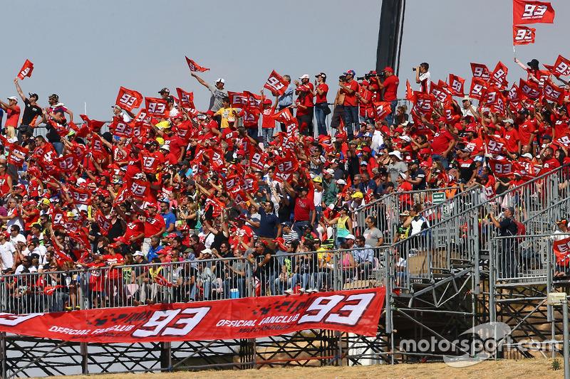 Marc Marquez, Repsol Honda Team, mit Fans