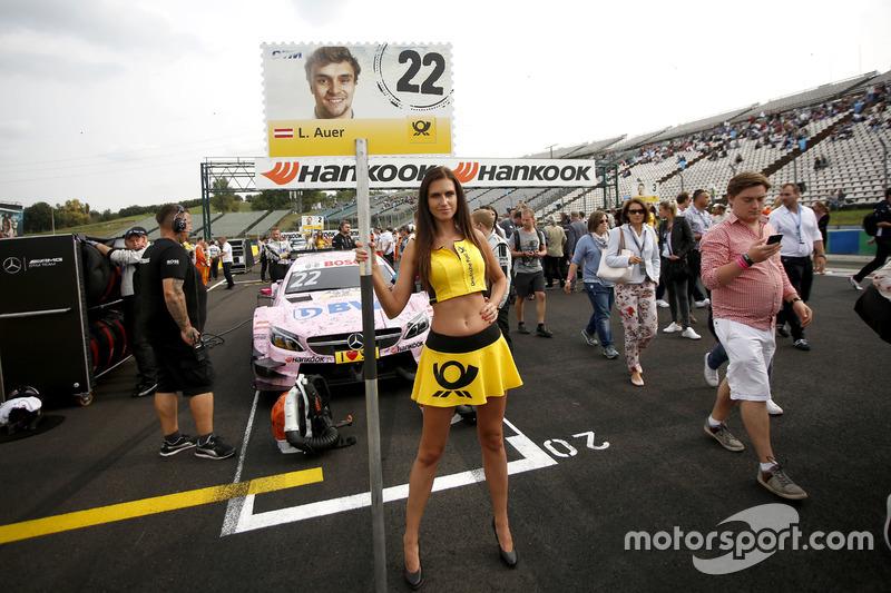Gridgirl für Lucas Auer, Mercedes-AMG Team Mücke, Mercedes-AMG C63 DTM