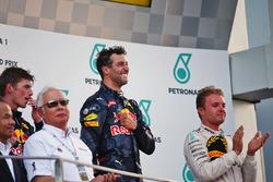 Подіум (зліва направо): Макс Ферстаппен, Red Bull Racing; Даніель Ріккардо, Red Bull Racing переможе