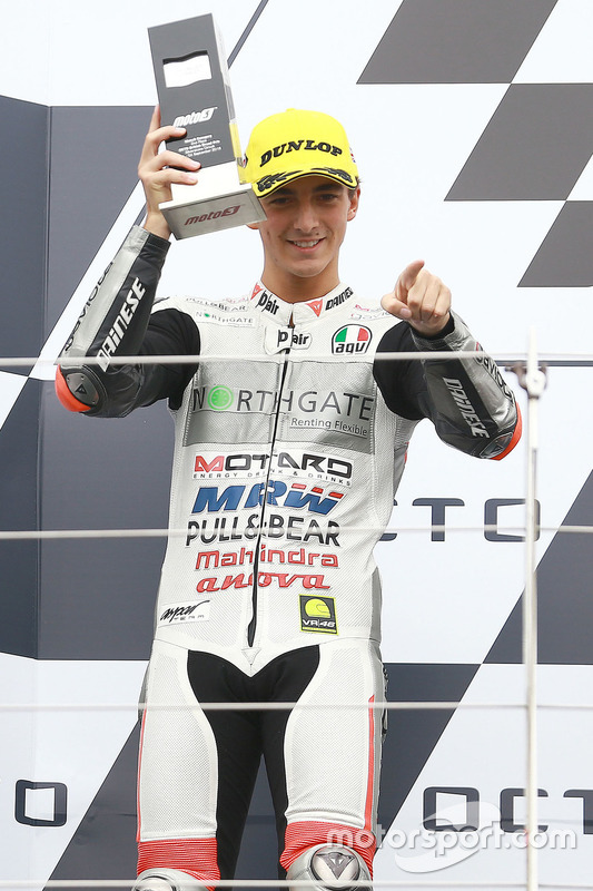 Podium: second place Francesco Bagnaia, Aspar Team Mahindra