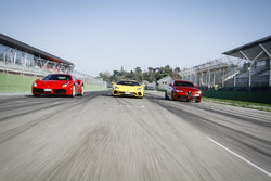 Alfa Romeo Giulia Quadrifoglio, Ferrari 488 GTB, Lamborghini Aventador S