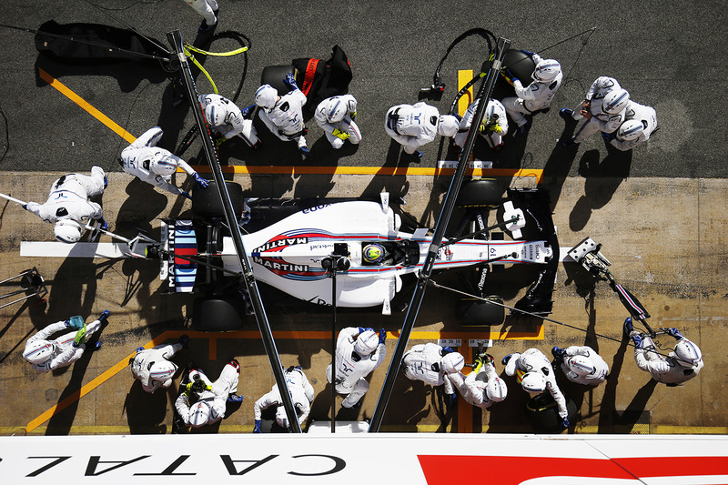 Práctica de pitstop de Felipe Massa, Williams FW40