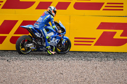 Alex Rins, Team Suzuki MotoGP runs out