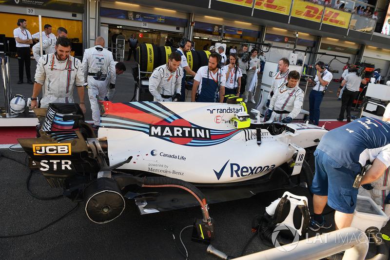 El coche de Lance Stroll, Williams FW40