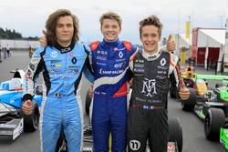 Race winner Robert Shwartzman, Josef Kaufmann Racing, Max Defourny, R-ace GP, Sacha Fenestraz, Josef Kaufmann Racing